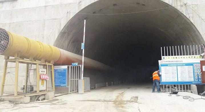 重庆涪陵路桥使用我们的风筒通风进行安全演习