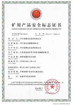 煤安证FTFSS1000X10