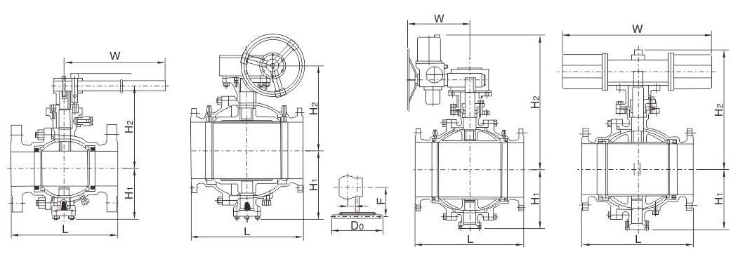 GB铸钢固定球阀