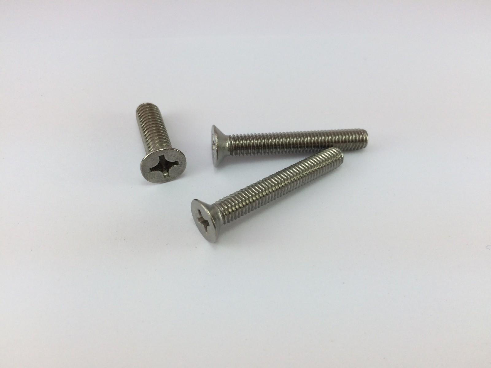 304不銹鋼 GB819沉頭十字槽機械螺絲 DIN965沉頭十字槽機械螺釘