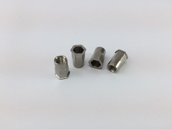 304不锈钢小沉头半六角拉铆螺母