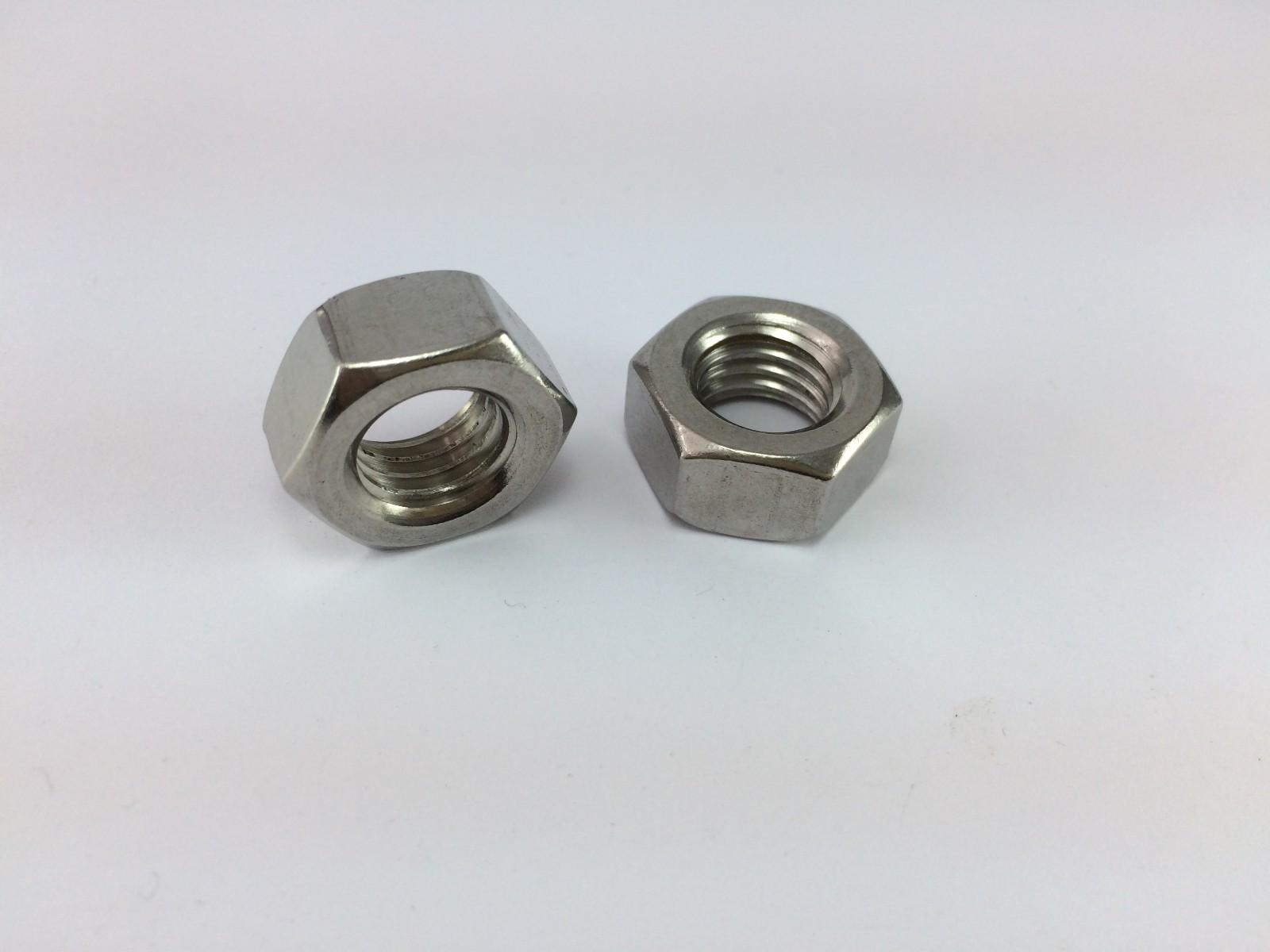 304不锈钢DIN934六角螺母 GB6170六角螺母
