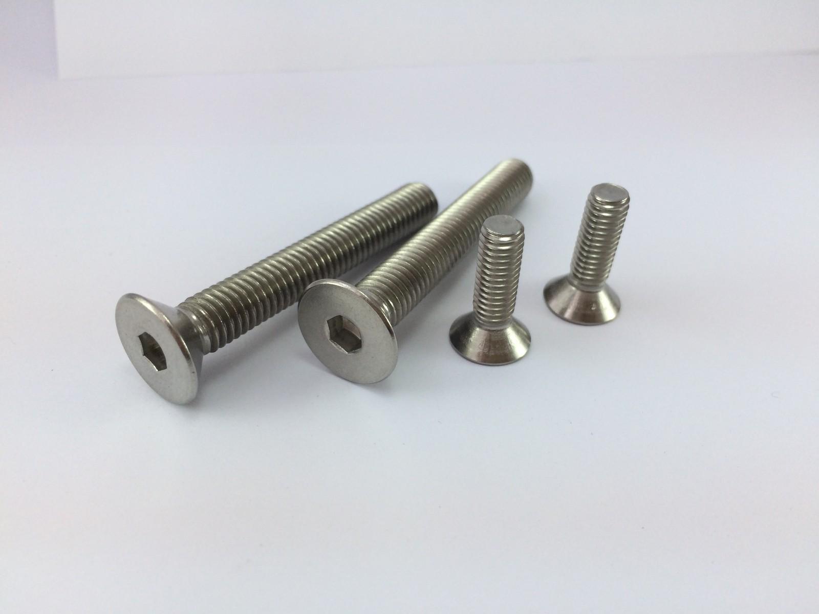 304不锈钢GB70.3沉头内六角螺钉 DIN7991沉头内六角螺丝